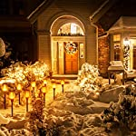 6-Pack Solar Torch Lights with Flickering Flames for Christmas Decorations Outdoors Garden Path Light Solar-powered Wireless Pathway Lights, Waterproof Landscape Lighting for Yard, Patio, Lawn, Porch Front Door