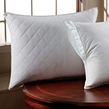 Comfy White Zippered Quilted Standard Pillow Protector