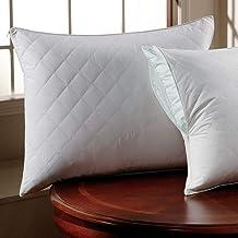 غطاء وسادة مريح مبطن بسحاب لون أبيض