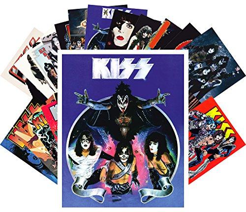 Postkarten 24pcs Kiss Rock Group Vintage Posters Movies Comic