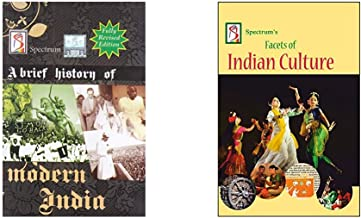 A Brief History of Modern India (2019-2020 Edition) by Spectrum Books + Facets of Indian Culture (2019-2020 Examination) (Set of 2 Books)