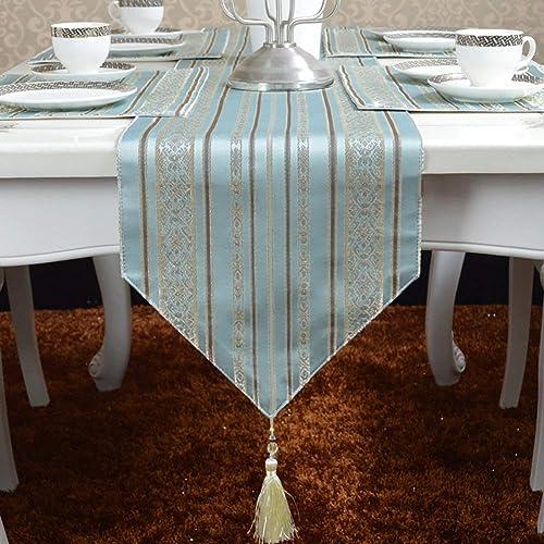 el más barato SCJS Table Runner Runner Runner Striped Table Runner Mesa de Comedor Té Paño de Mesa azul Minimalista Moderno (Tamaño  30  200cm)  tienda en linea