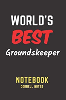 World's Best Groundskeeper Notebook: Cornell Notes. Perfect Gift/Present for any occasion. Appreciation, Retirement, Year ...