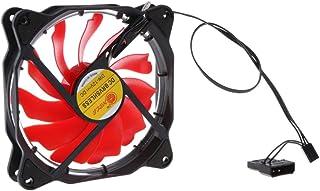 HOMYL Solar Eclipse 12cm 120mm Cooler Computer Case Cooling Fan Silent LED Effect Red