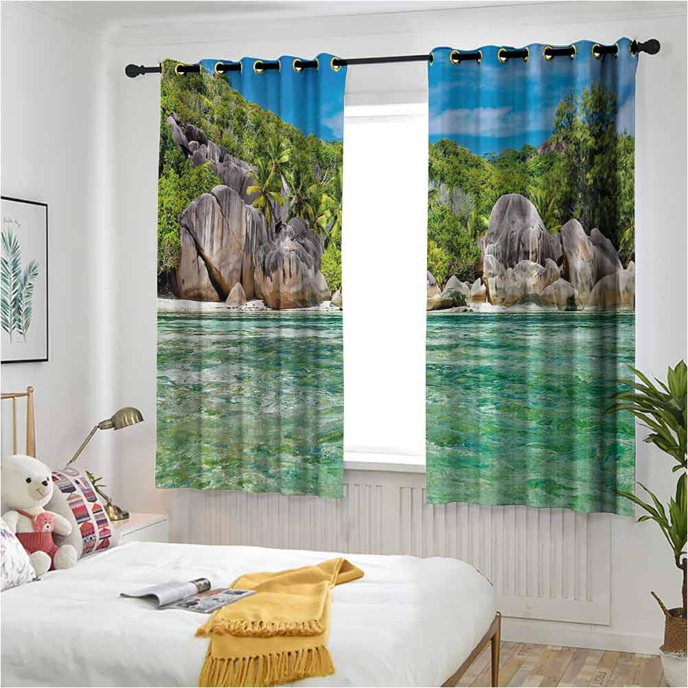Tropical Drapes for Baby Nursery of Trees ふるさと割 (人気激安) Island Landscape with