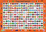 Little Wigwam Flags And Capitals Chart - Tear-Resistant Educational Poster (24 x 17 inches)