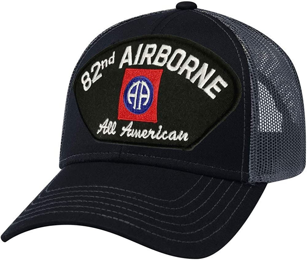 Ranking TOP7 Military Productions 82nd Max 70% OFF Airborne Division Black Back Cap Mesh
