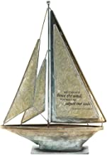We Can Adjust Our Sails Bertha Calloway 12 x 9.5 Metal Table Top Sailboat Figurine Decoration