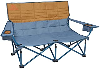 Kelty Low Loveseat Camping Chair – Portable, Folding Chair for Festivals, Camping and Beach Days - Updated 2019 Model