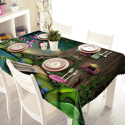 ¡no ser extrañado! MARCU Home Home Home Casa del árbol de la Seta, impresión Digital, paño de la máquina de té, Personalidad, Polvo y Sabor Ambiental, manteles 3D, n. ° 1, 130  180 cm  producto de calidad