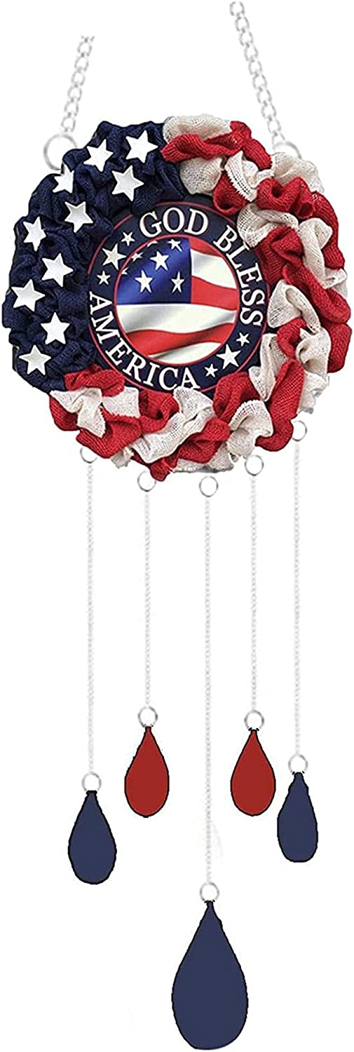 Albuquerque Year-end gift Mall Moulding American Independence Day Chimes Hanging Windchime Wind