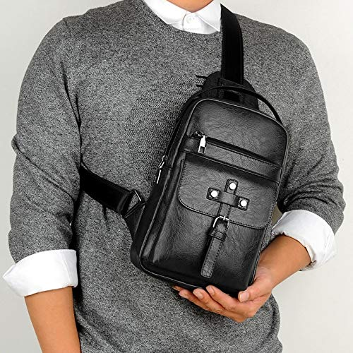 Xfhwyp Universal Fashion Casual Outdoor Heren Shoulder Messenger Bag Retro Men's Belt Bag Multifunctionele Universal Outdoor Mobile Phone Bag schoudertas heuptas Geschikt for Outdoor Travel