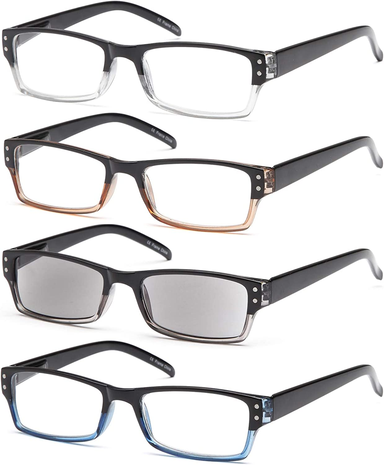 Gamma Ultra-Cheap Deals Ray Reading Glasses - 4 with Hinge Spring Re Pairs Popular product Readers