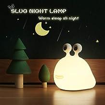 【MUID Original Authentic】 Slug Night Light, Nursery Squishy Lamp, Silicone Night Light for Breastfeeding, Cute Animal Beds...