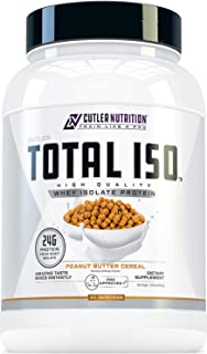 Total ISO Whey Isolate Protein Powder: Best Tasting Whey Protein Shake Featuring 100% Whey Protein Isolate, Perfect Post W...