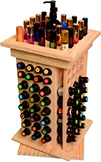 CHSEEO 104 Trous Boîte de Stockage d'Huile Essentielle Rangement Coffret en Bois Aromathérapie Présentoir à Huiles Essenti...