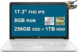 2021 Flagship HP 17 ノートパソコン コンピューター 17.3インチ FHD IPS 72% NTSC 第10世代 Intel Quad-Core i5-10210U (ビートズ i7-8550U) 8GB DDR4 256G...