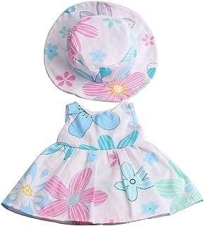 MagiDeal Lindo Vestido de Flores sin Mangas con Sombreros