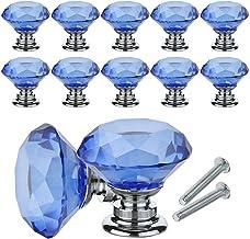 YCDC Crystal lade kast knoppen diamant vormige kristallen glazen knoppen trekt 30mm voor dressoir & keuken, kledingkast & ...