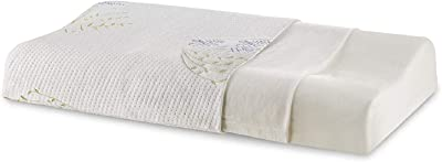 """The White Willow Cervical Orthopedic Memory Foam Queen Size Contour Neck Support Sleeping Bed Pillow with Removable Cover (23"""" L x 14"""" W x 4"""" H) -Multicolour"""