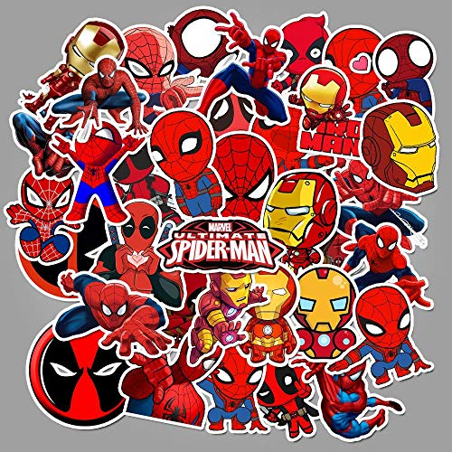 BUCUO Marvel Superhero Spider-Man Iron Man Dead Wait Graffiti Sticker Luggage Car Waterproof Sticker 100Pcs