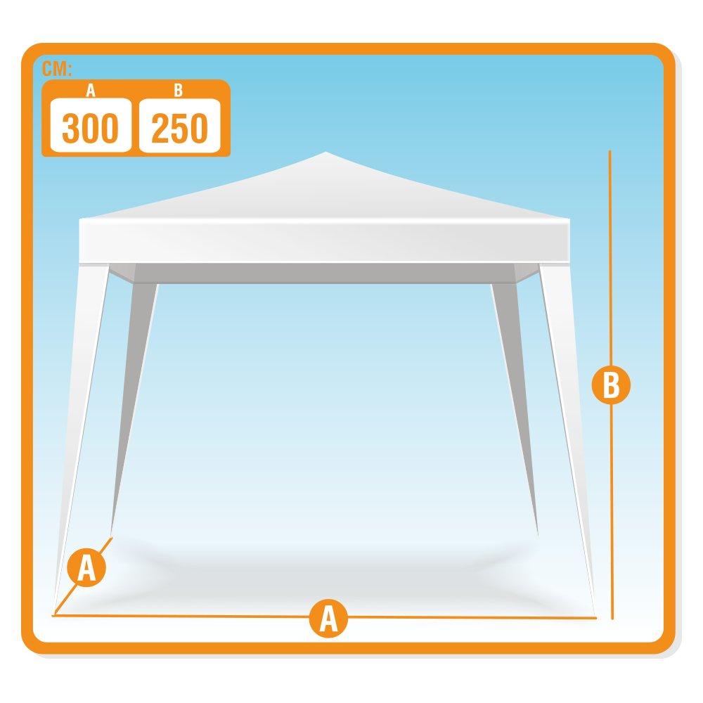 Aktive - Cenador de 300 x 300 x 250 cm, plástico, color blanco (ColorBaby 53857): Amazon.es: Jardín