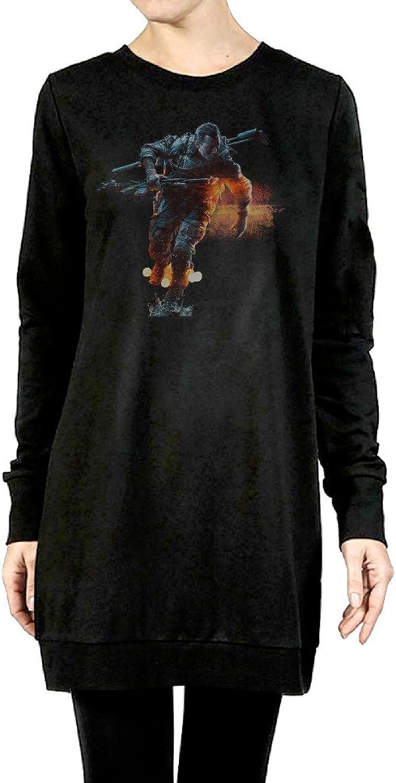 Battlefield Women's Long Fleece Hoodie Black