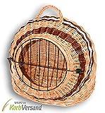 KORBVERSAND Katzenkorb Hundekorb - 53x46x47 cm - Transportkorb Tierkorb Katzenbox Hundebox Katzenhöhle Hundehöhle Liegeplatz Schlafkorb