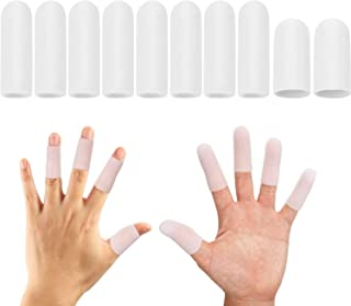 Excefore Gel Finger Cots, Finger Protector Support (30 PCS), Finger Sleeves, Silicone Finger Covers Compress for Arthriti...