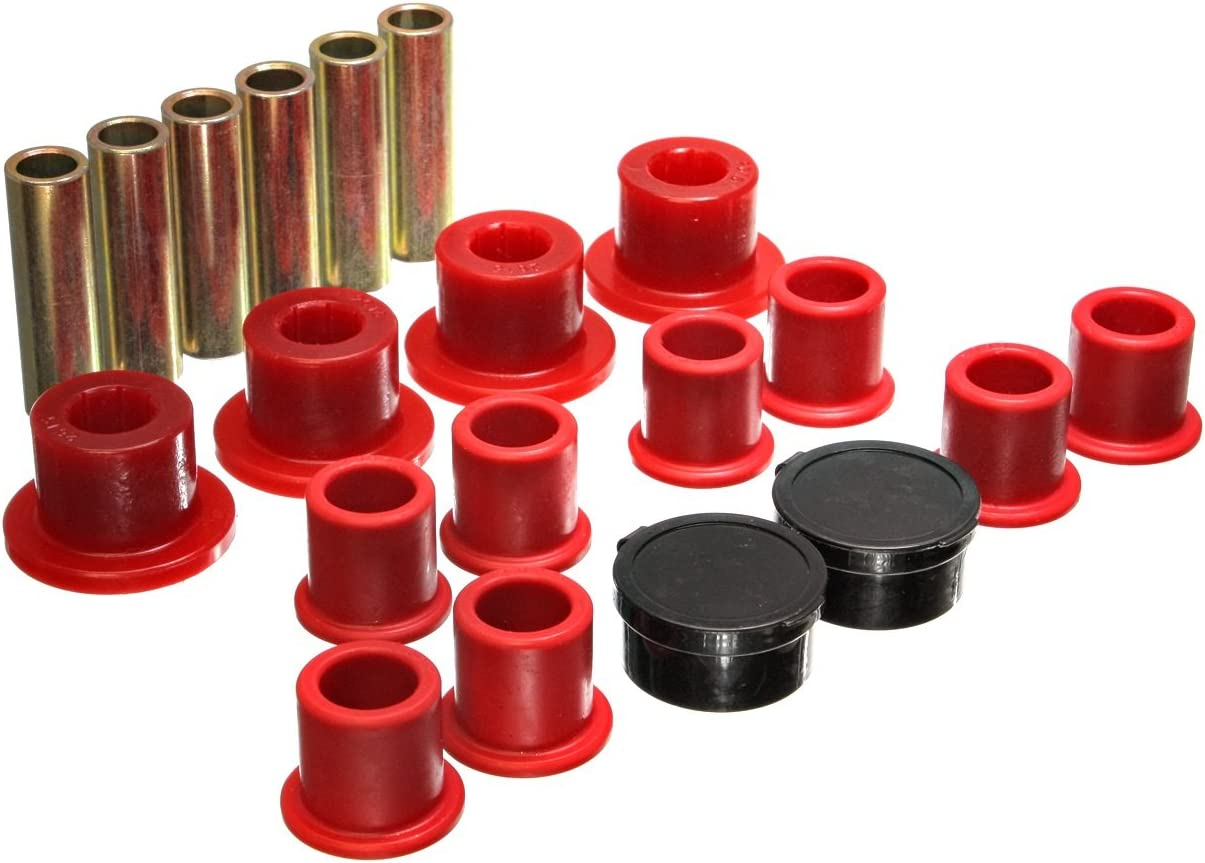 Energy Suspension Indianapolis Mall 4.2154R Rear Bombing new work Spring Bushing Set Leaf