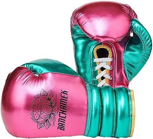 FBEST Gants de Boxe pour Hommes et Femmes MMA Sparbague Muay Thai Formation de Kickboxing Sac Lourd Mitaines Gants de Combat
