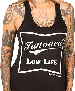 Cartel Ink Tattooed Low Life Women's Racer Back Tank Top