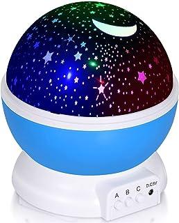 Adoric Proyector Lámpara De Dormir Lámpara Infantil Lámpara Proyector Infantil 360 Grados De Rotación 3 Modo de Luz De Pro...