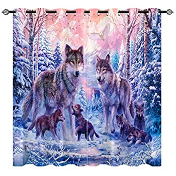 Best wolf curtains for bedroom Reviews