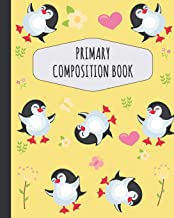 Penguin Primary Composition Book: Cute Baby Penguin Primary Composition Notebook K-2 | Draw Top Lines Bottom: With Picture Space | Large Draw and ... Grades K-2 | Kindergarten Elementary School