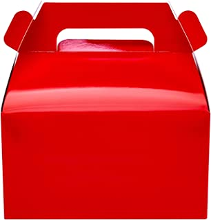 25-Pack Gable Red Candy Treat Boxes,Small Goodie Gift Boxes for Wedding and Birthday Party Favors Christmas Box 6.2 x 3.5 ...