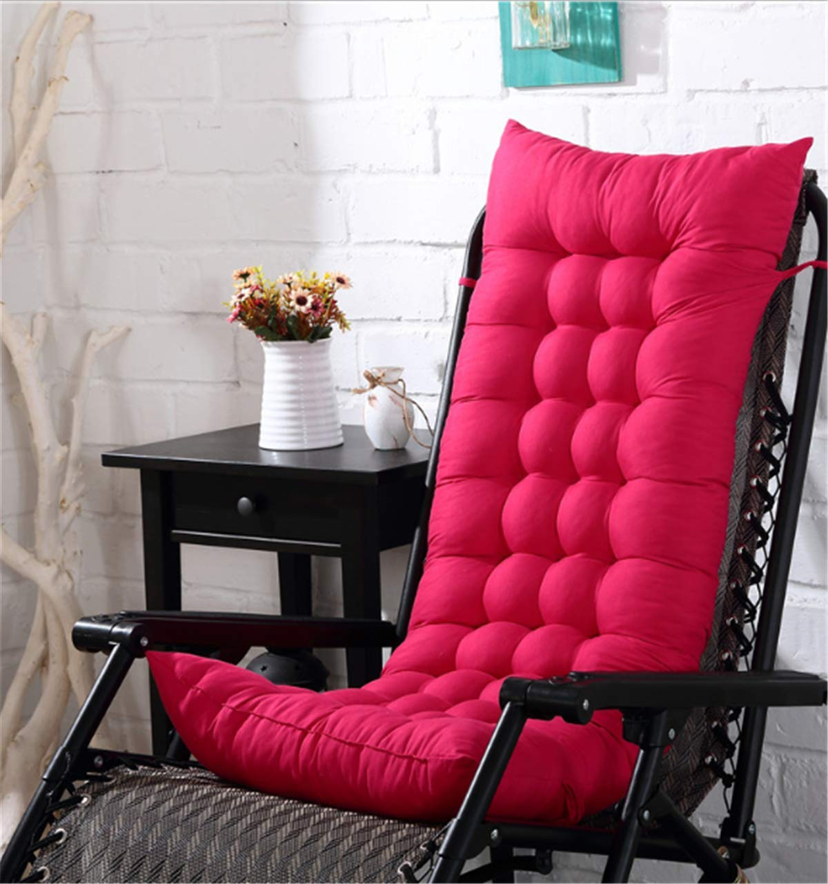 Marbeine – Cojín para silla de relax, tumbona de jardín, terraza, rosa: Amazon.es: Jardín