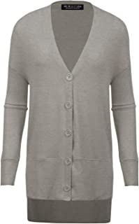 BH B.I.L.Y USA Women's Open Front Long Sleeve Classic Knit Cardigan