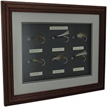 Zeckos English Salmon Bait C 1900 Fly Fishing Lure Collection Wood Frame Display