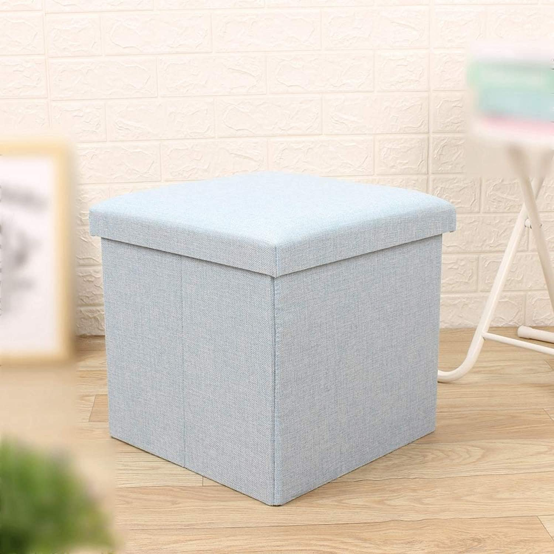 ZhiGe Storage seat,Fabric Folding Storage Stool Square Household shoes Storage Stool Storage Box spot