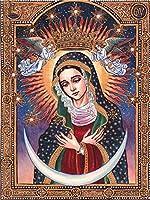 大人と子供のためのフルドリルラウンドDIYダイヤモンド塗装キット、聖母マリア聖母グアダルーペ5Dクロスステッチダイヤモンド刺繍モザイクハンドインレイ、抽象-40x50cm-70x100cm