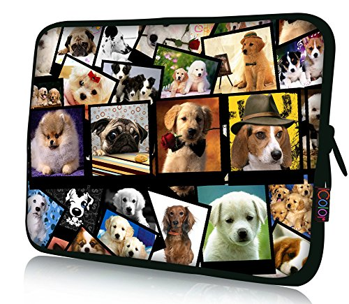 iColor 11 11.6 12.1-inch Laptop-Case Bag - Notebook Chromebook Case Ultrabook Bag Sleeve Computer Protective Cover Carrier Pouch-Dogs