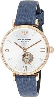 ساعة يد للنساء بلون ازرق من امبوريو ارماني
