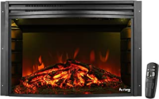 e-Flame USA Quebec 27-inch Electric Fireplace Insert (Black)