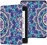 Funda Protectora Kindle Paperwhite Patrón sin Costuras Mandala Púrpura Patrón sin Costuras Fundas Ereader Mandala para Kindle Paperwhite 2018 Funda con Auto Despertador/Reposo Funda Kindle Paperwhi