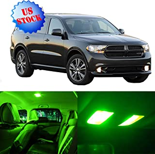 SCITOO LED Interior Lights 10pcs Green Package Kit Accessories Replacement for 2011-2017 Dodge Durango