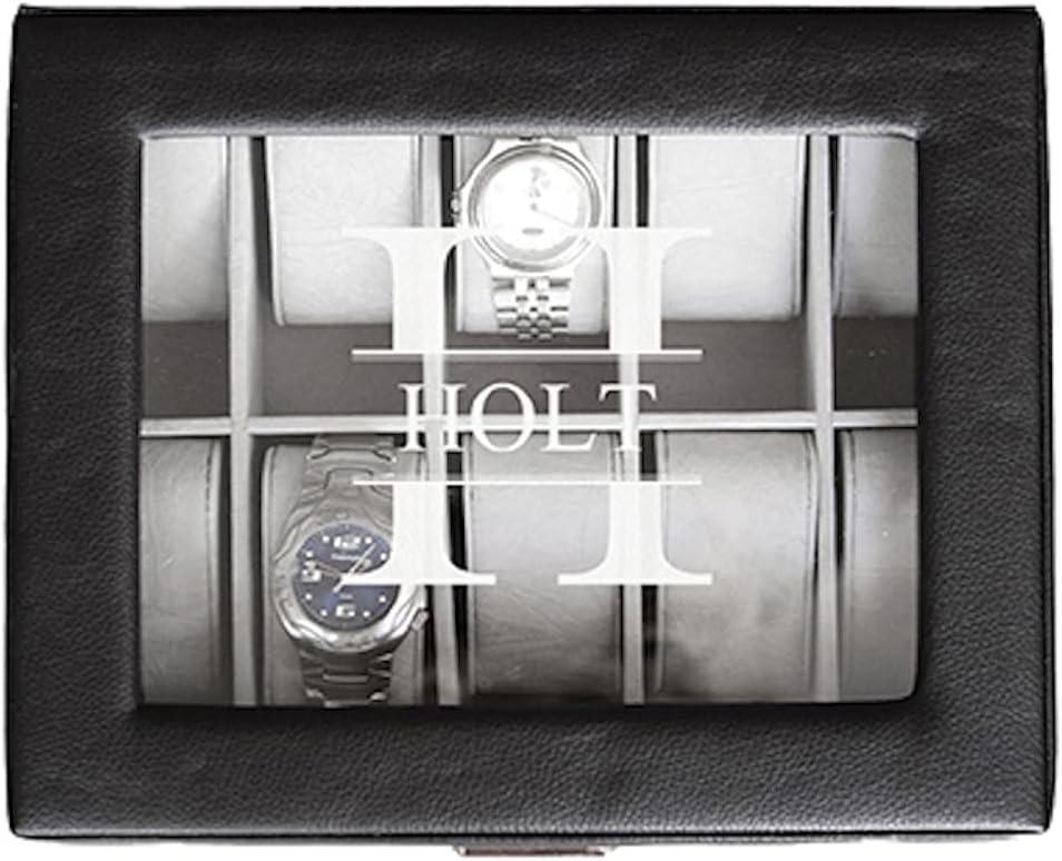 新品 Personalized Watch Box セール特価 10 Slot Display Case - Jewelr Monogrammed