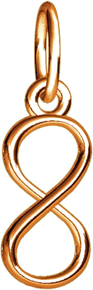 Mini Infinity Symbol Charm 4mm Rose Gold 14K All items in the store Max 51% OFF Pink in