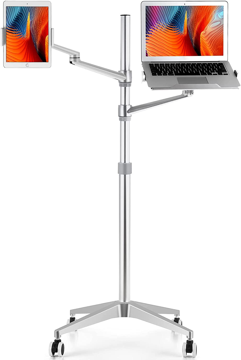 viozon Tablet and Laptop Floor 2-in-1 Max 79% OFF Stand Adjustable Rolling Max 54% OFF