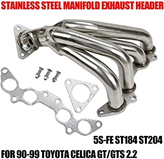 MANIFOLD HEADER/EXHAUST, Compatible with 90-99 TOYOTA CELICA GT/GTS 2.2 5S-FE ST184 ST204